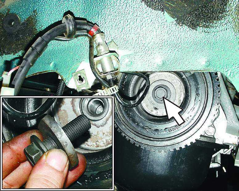 Фото №26 - как открутить болт шкива коленвала ВАЗ 2110