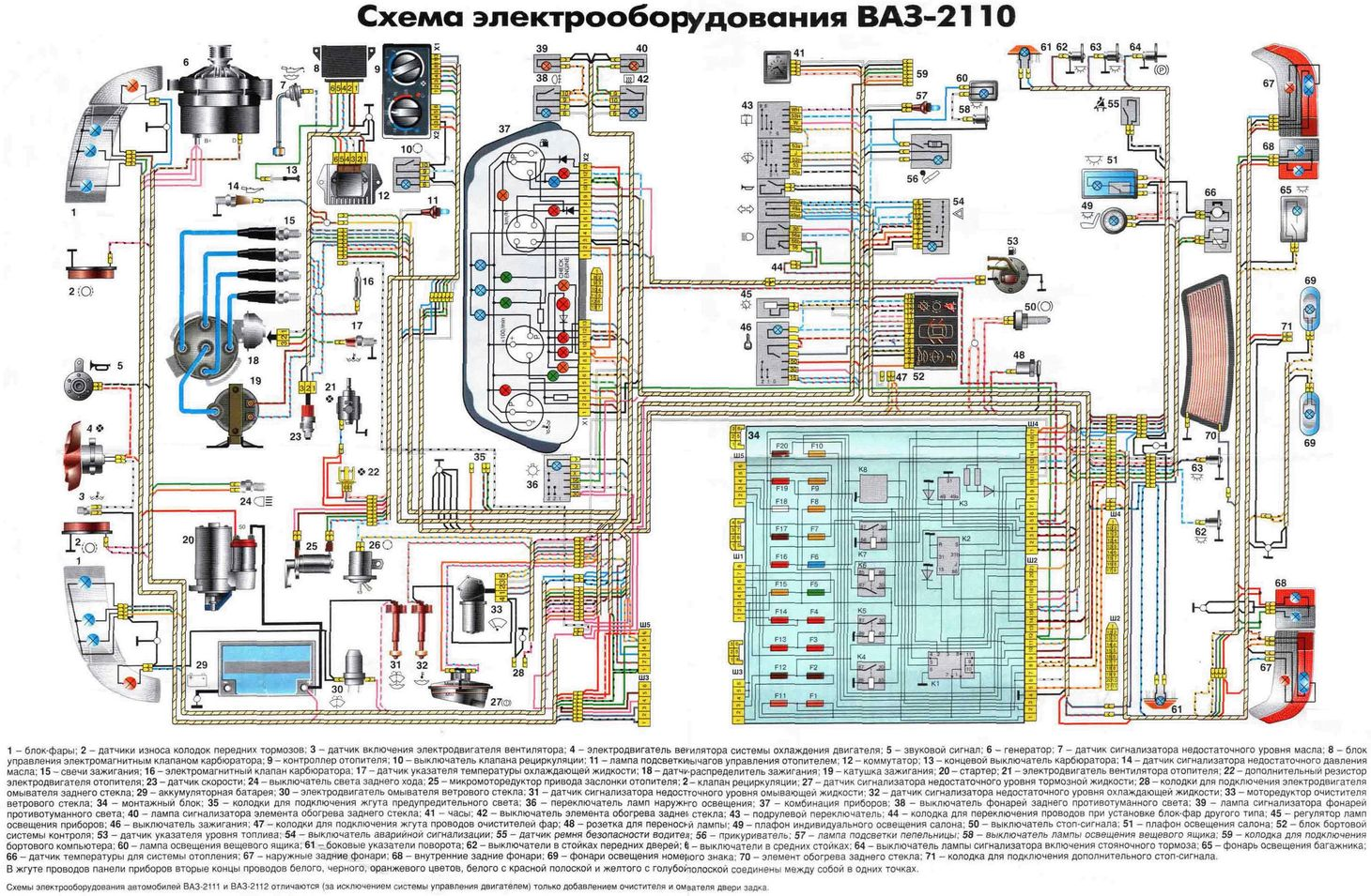 Фото №16 - ВАЗ 2110 инжектор схема