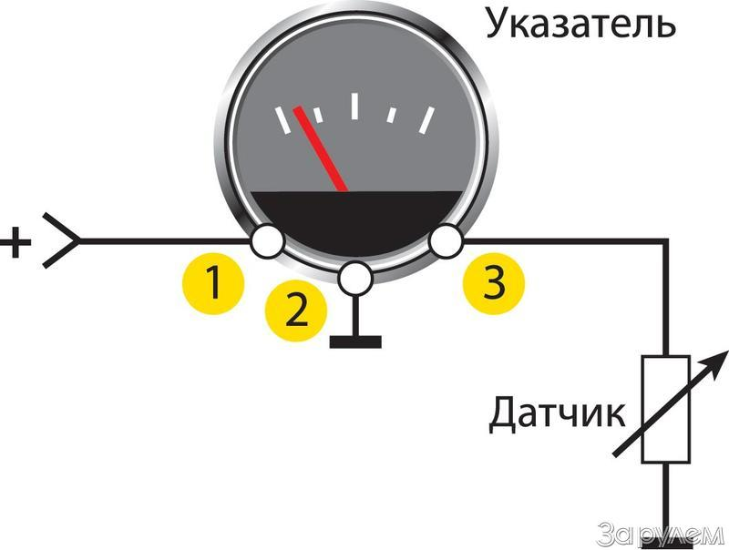Фото №1 - схема подключения датчика уровня топлива ВАЗ 2110