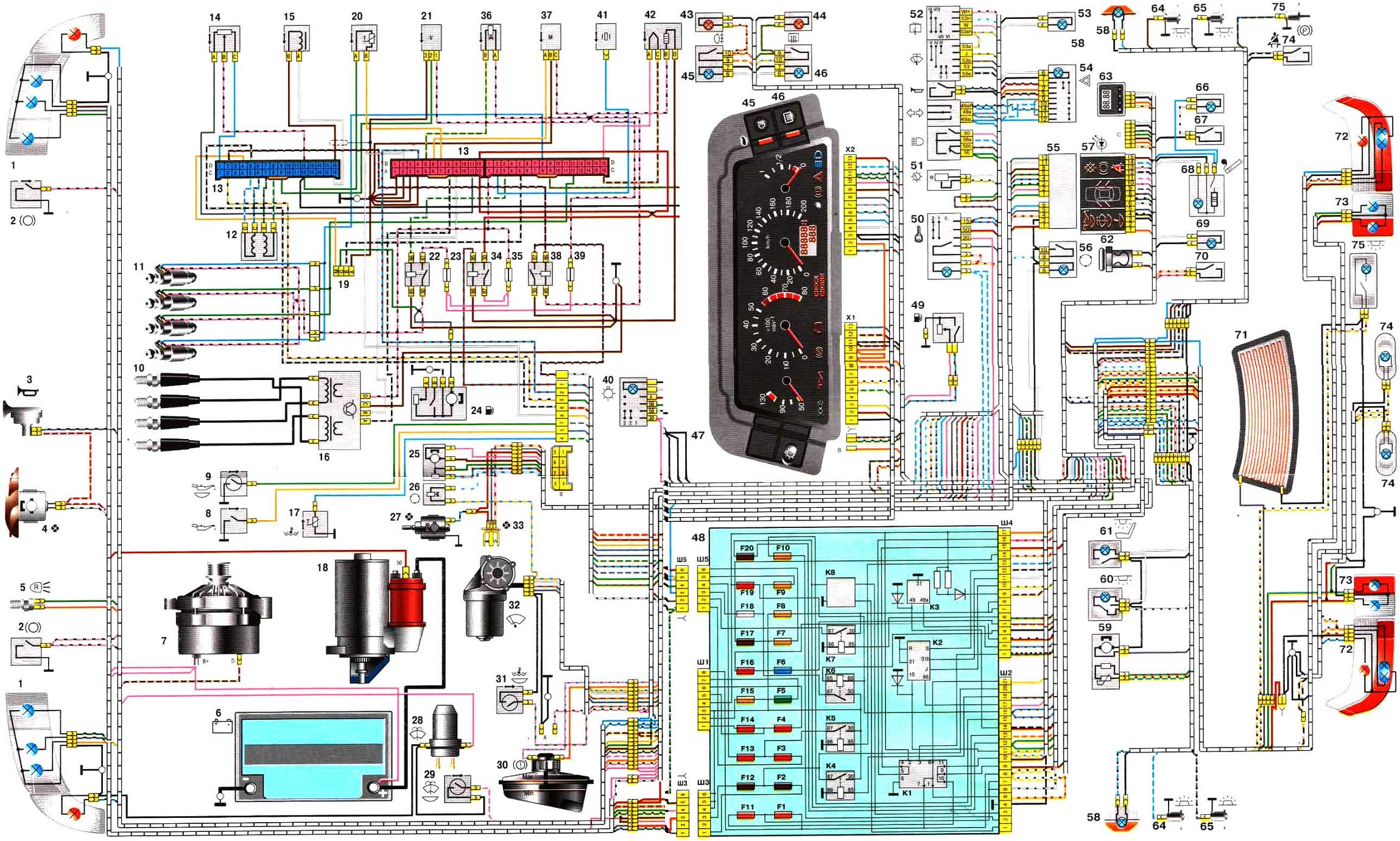 Фото №17 - ВАЗ 2110 инжектор схема