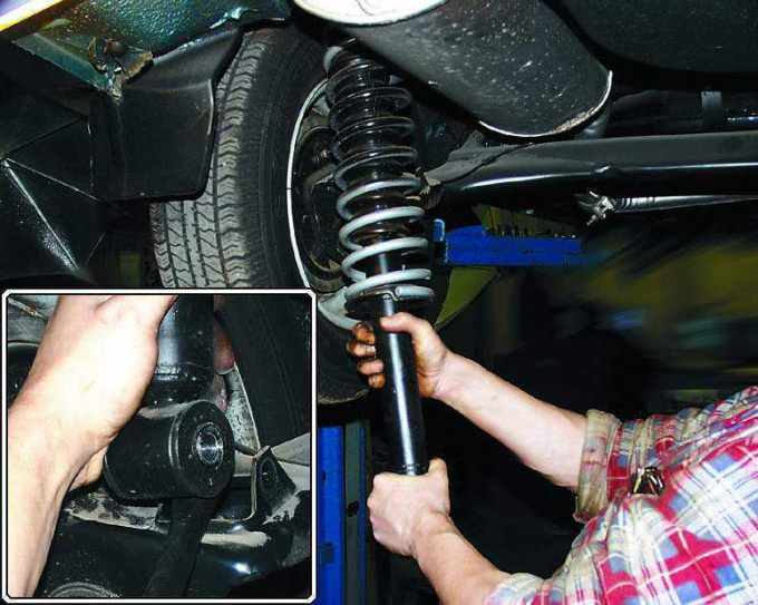 Фото №1 - как поменять стойки на ВАЗ 2110