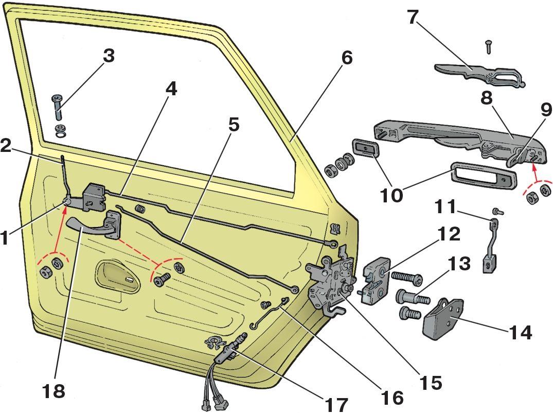 Фото №2 - механизм открывания двери ВАЗ 2110