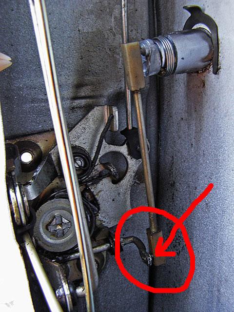 Фото №5 - механизм открывания двери ВАЗ 2110