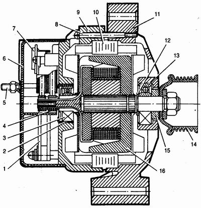 Фото №17 - схема генератора ВАЗ 2110