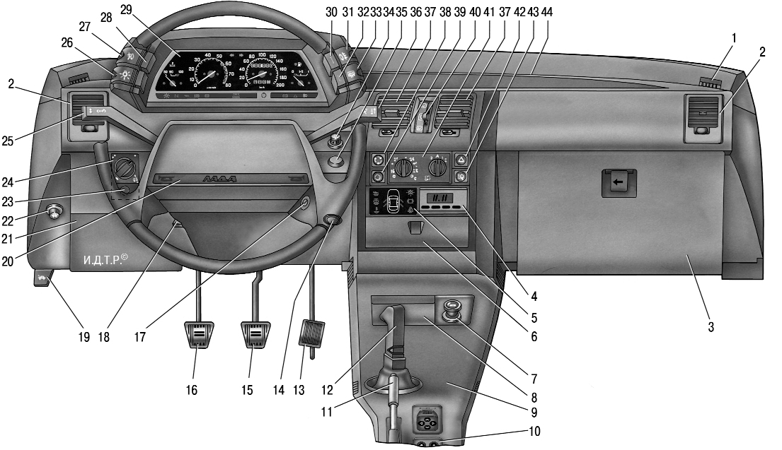 Фото №26 - торпеда ВАЗ 2110 описание кнопок фото