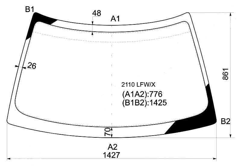 Фото №17 - размеры лобового стекла ВАЗ 2110