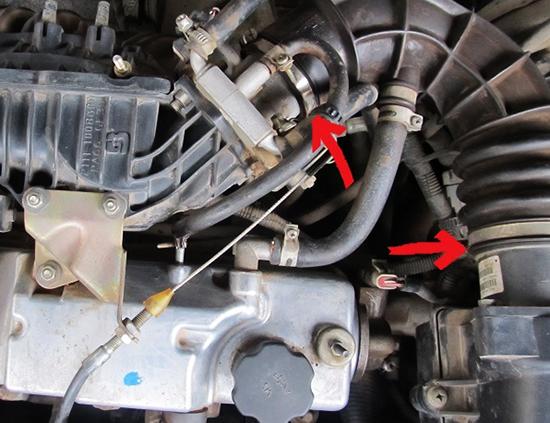Фото №13 - положение дроссельной заслонки на холостом ходу ВАЗ 2110