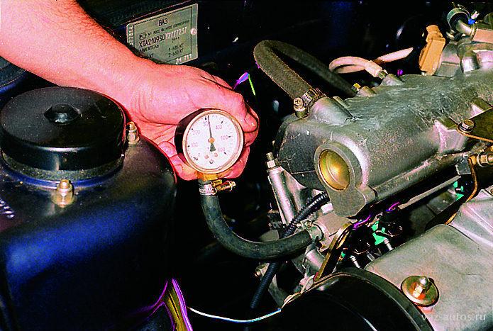 Фото №16 - проверка давления в топливной рампе ВАЗ 2110