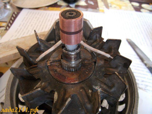Фото №27 - замена контактных колец на генераторе ВАЗ 2110
