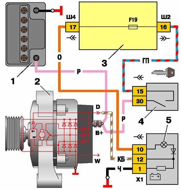 Фото №18 - ВАЗ 2110 нет возбуждения генератора