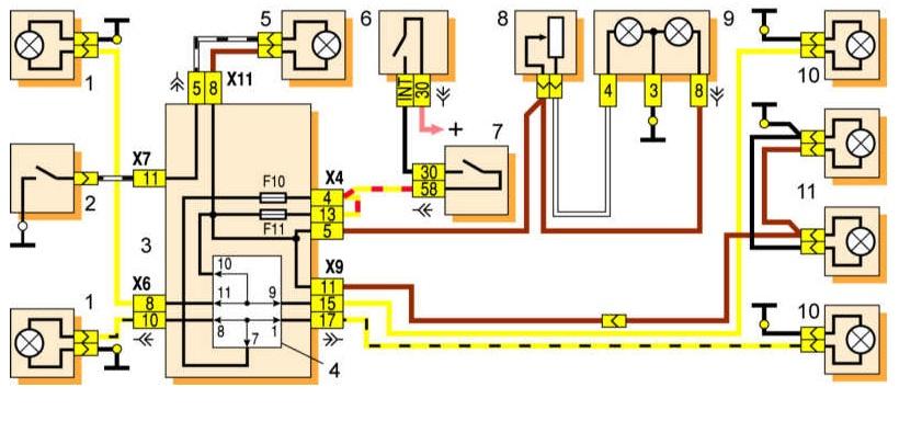 Фото №4 - схема освещения салона ВАЗ 2110