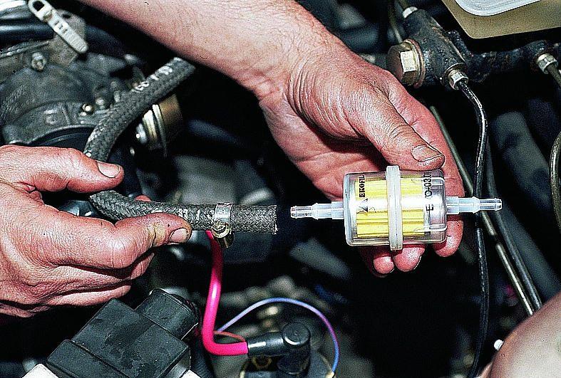 Фото №25 - как правильно ставить топливный фильтр ВАЗ 2110