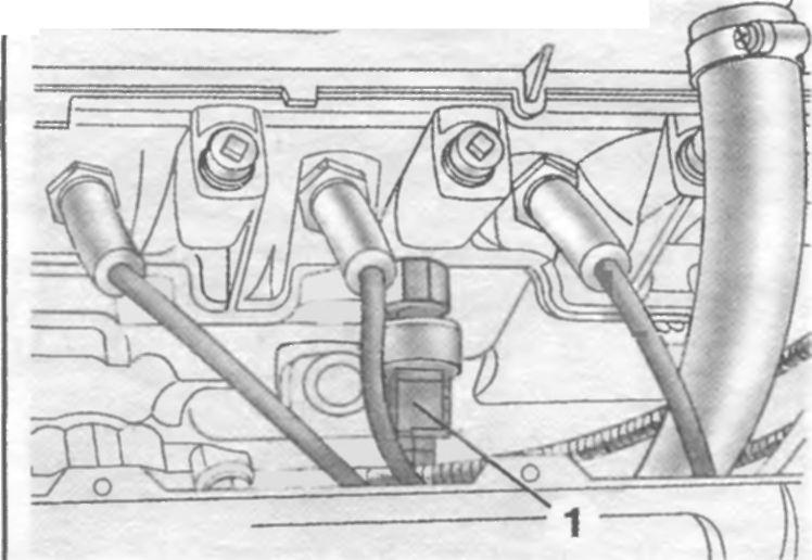 Фото №15 - где находится датчик детонации ВАЗ 2110 8 клапанов