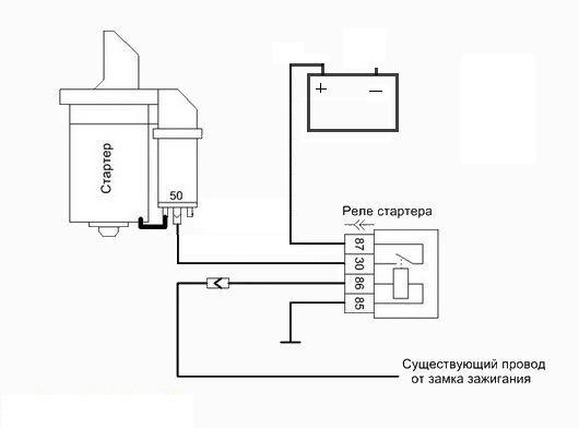 Фото №15 - дополнительное реле стартера ВАЗ 2110 схема