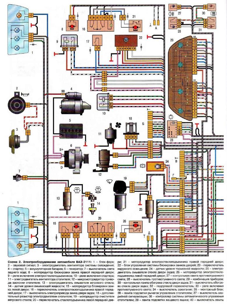 Фото №9 - схема электропроводки ВАЗ 2110