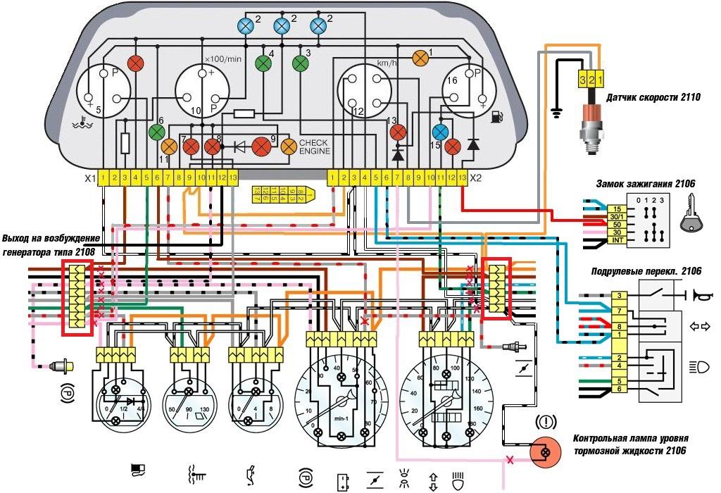 Схема приборной понели