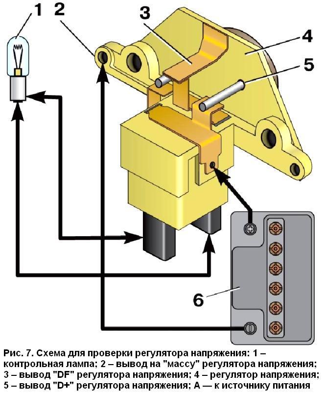 Фото №18 - как проверить реле регулятор генератора ВАЗ 2110