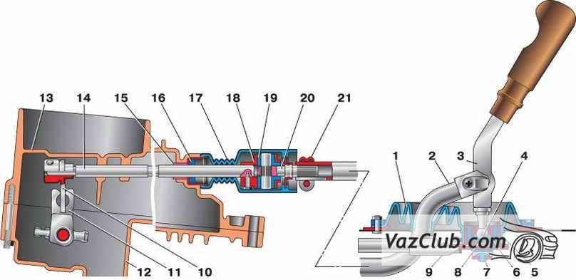 Фото №17 - привод переключения передач ВАЗ 2110
