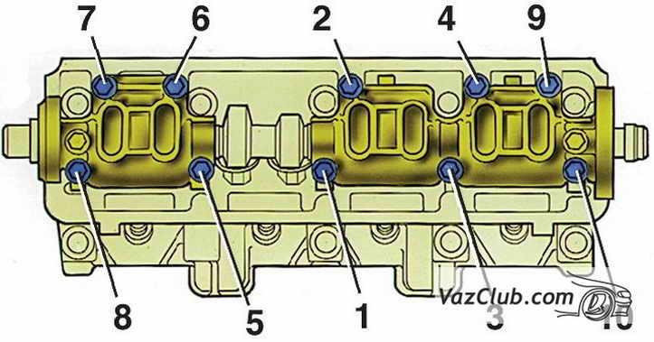 Фото №11 - порядок затяжки головки ВАЗ 2110 8 клапанов