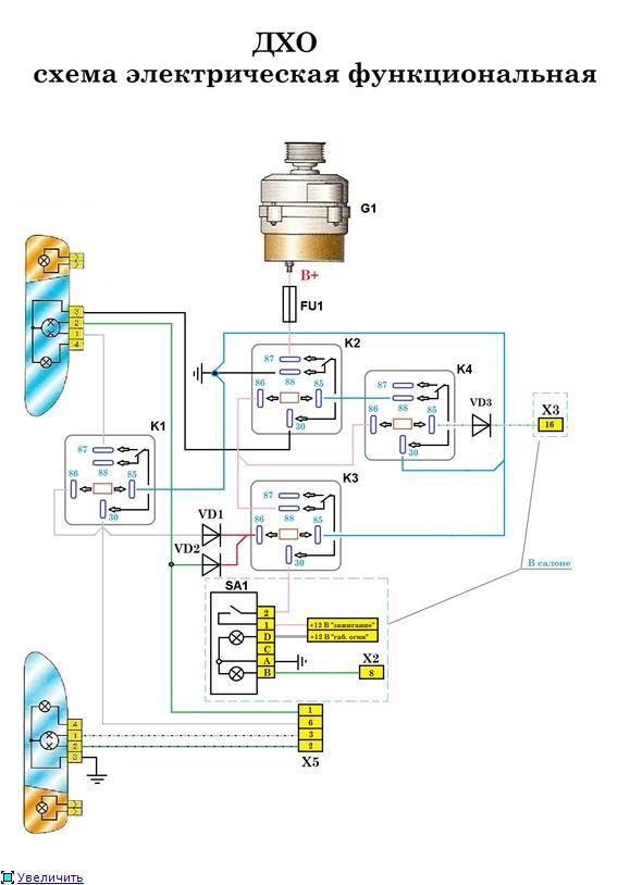 Фото №25 - схема подключения дхо на ВАЗ 2110