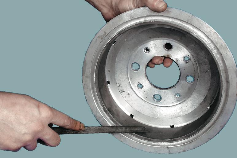 Фото №3 - ВАЗ 2110 проточка тормозных барабанов