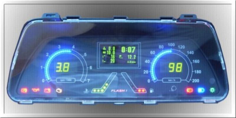 Фото №5 - приборная панель для ВАЗ 2110 с бортовым компьютером