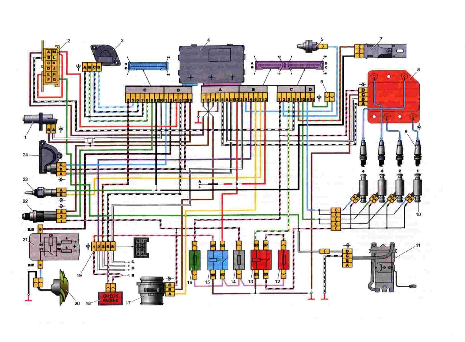 Фото №8 - ВАЗ 2110 инжектор схема