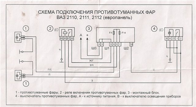 Фото №8 - подключение птф ВАЗ 2110 к штатной проводке