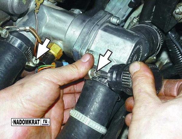 Фото №1 - чем промыть систему охлаждения ВАЗ 2110