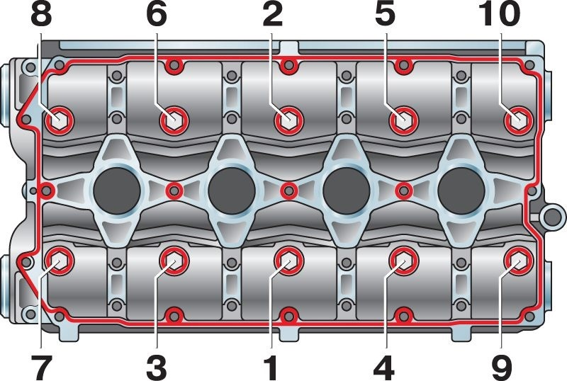 Фото №9 - порядок затяжки головки ВАЗ 2110 8 клапанов