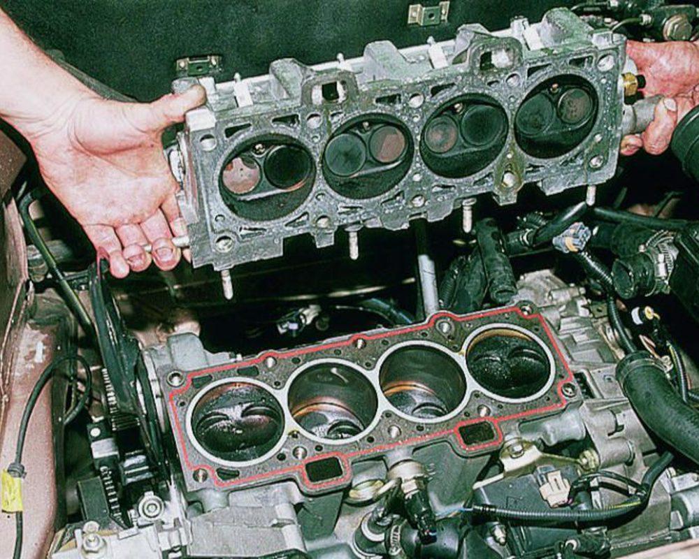 Фото №16 - замена прокладки головки блока цилиндров ВАЗ 2110