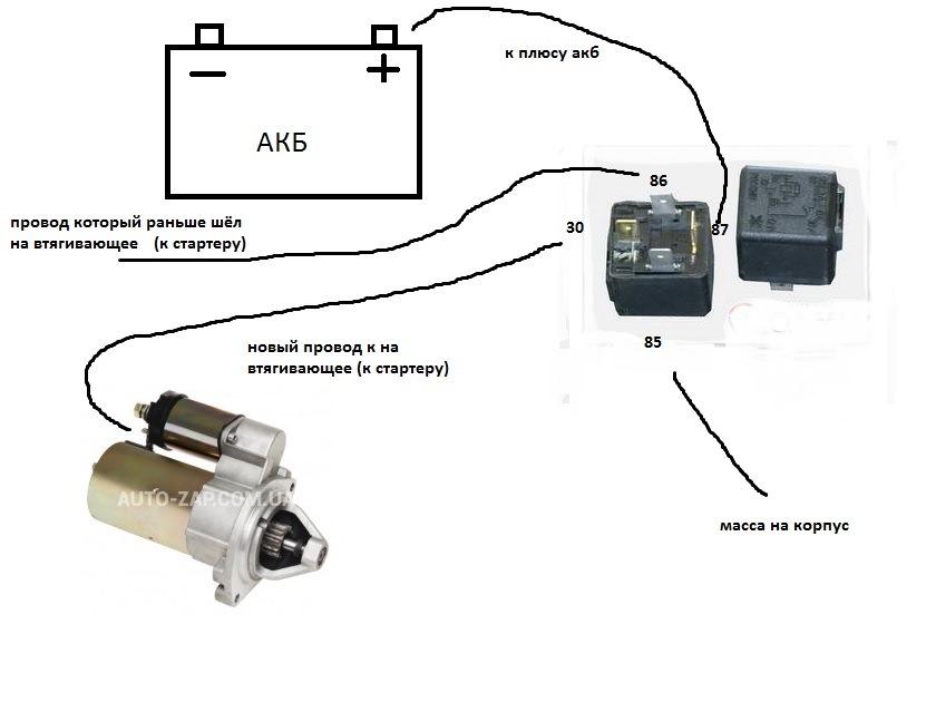 Фото №24 - ВАЗ 2110 схема подключения стартера