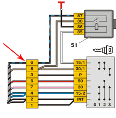 Фото №27 - схема замка зажигания ВАЗ 2110