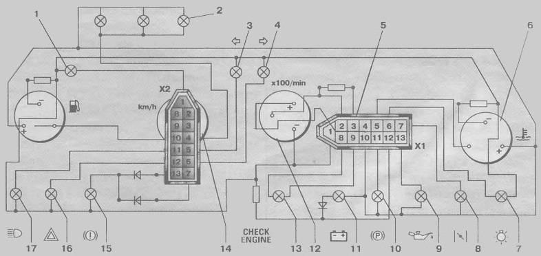 Фото №20 - схема подключения датчика уровня топлива ВАЗ 2110