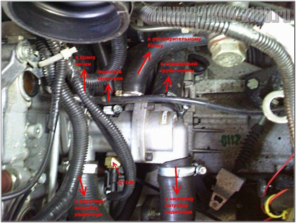 Фото №20 - как поменять термостат на ВАЗ 2110