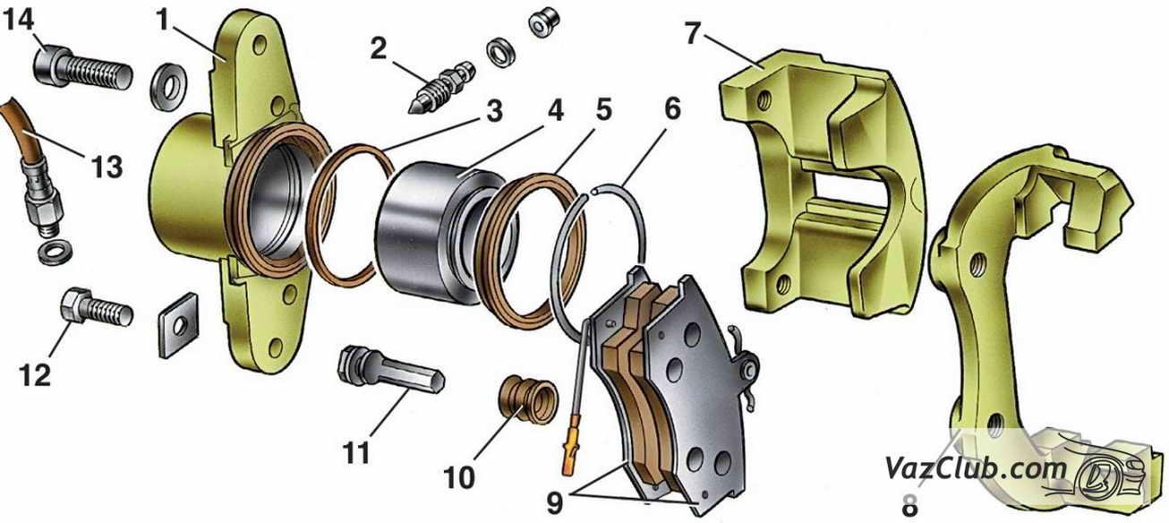 Фото №9 - замена передних тормозных цилиндров ВАЗ 2110